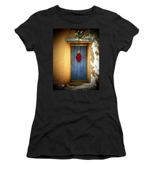 Blue Door With Chiles Women's T-Shirt (Athletic Fit)