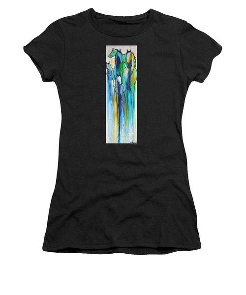 Blue Drip 2 Women's T-Shirt (Athletic Fit)