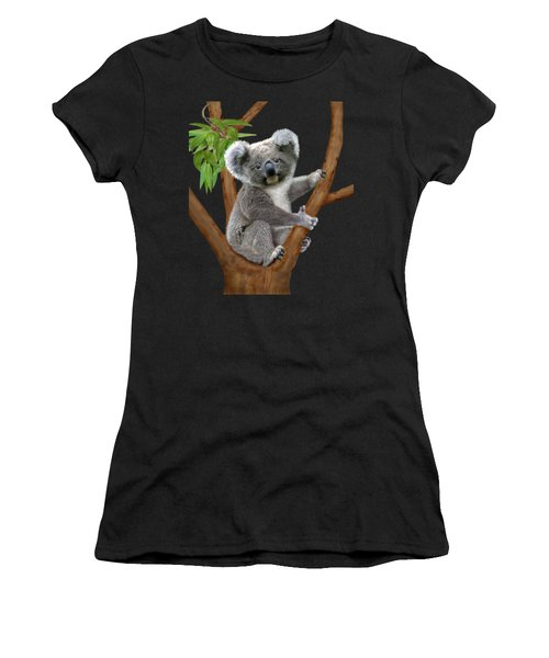 Blue-eyed Baby Koala Women's T-Shirt (Athletic Fit)