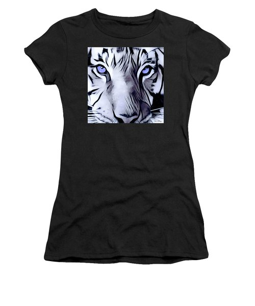 Blue Eyed Tiger Women's T-Shirt (Athletic Fit)