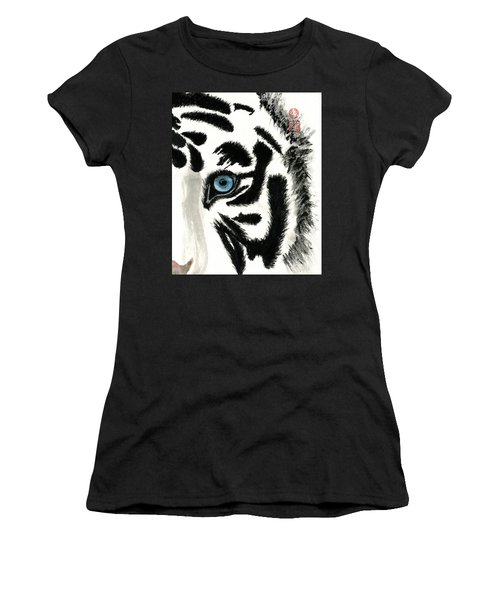 Blue-eyed Tiger Women's T-Shirt (Athletic Fit)