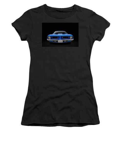 Women's T-Shirt (Junior Cut) featuring the digital art Blue Fish by Douglas Pittman