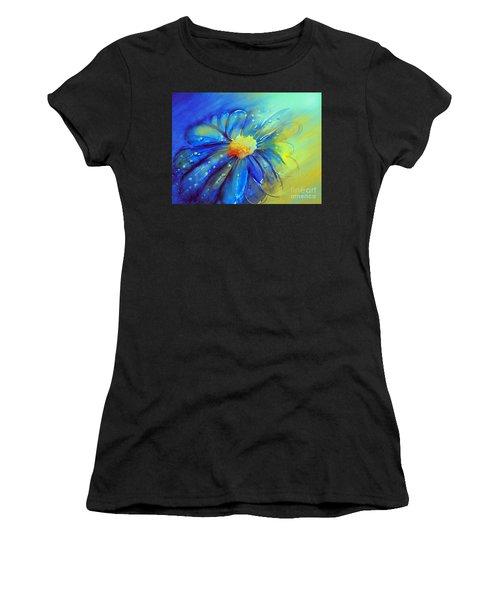 Blue Flower Offering Women's T-Shirt (Athletic Fit)
