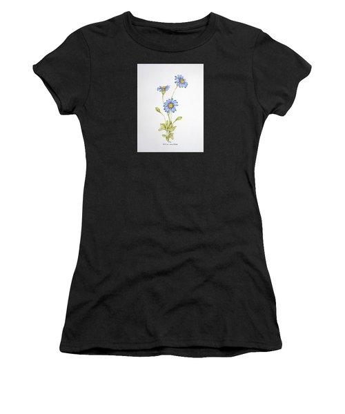 Blue Flower Women's T-Shirt (Athletic Fit)