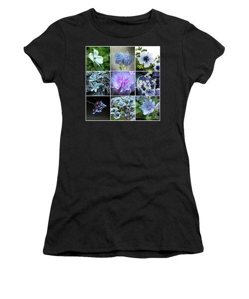 Blue Flowers All Women's T-Shirt (Athletic Fit)
