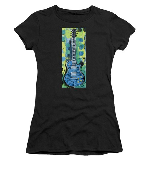 Blue Gibson Guitar Women's T-Shirt