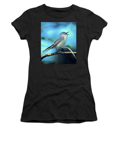 Blue-gray Gnatcatcher Women's T-Shirt (Athletic Fit)