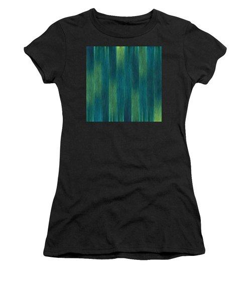 Blue Green Abstract 1 Women's T-Shirt