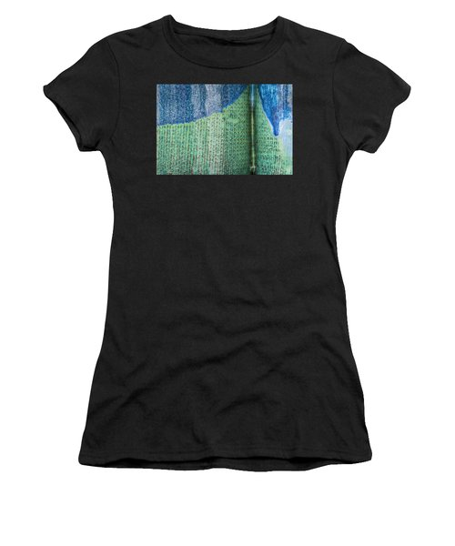 Women's T-Shirt featuring the photograph Blue/green Abstract by David Waldrop