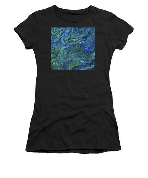 Blue Green Texture Women's T-Shirt