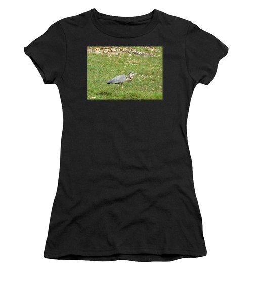Women's T-Shirt (Junior Cut) featuring the photograph Blue Heron by Robin Regan
