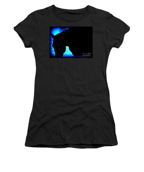 Blue Horse Women's T-Shirt (Athletic Fit)