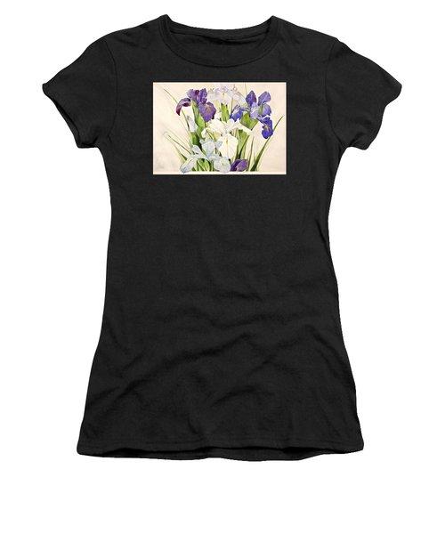 Blue Irises-posthumously Presented Paintings Of Sachi Spohn  Women's T-Shirt