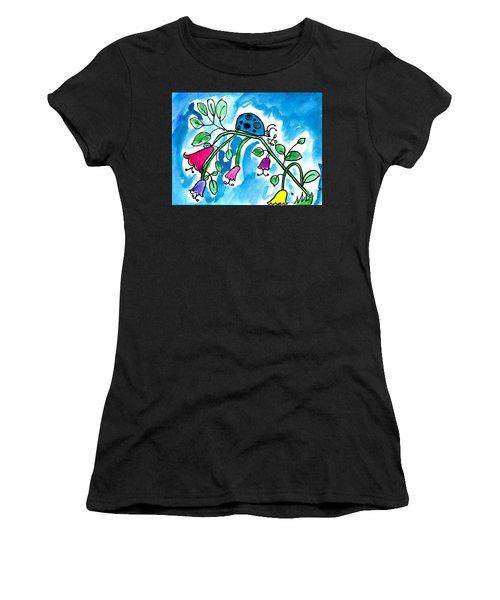Blue Ladybug Women's T-Shirt