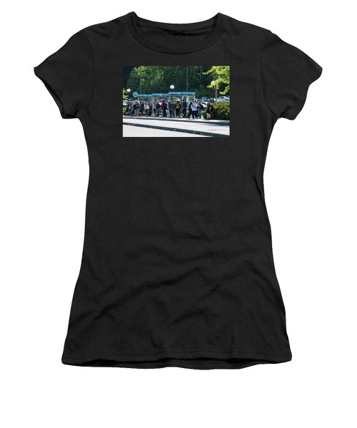 Blue Line On Campus Women's T-Shirt