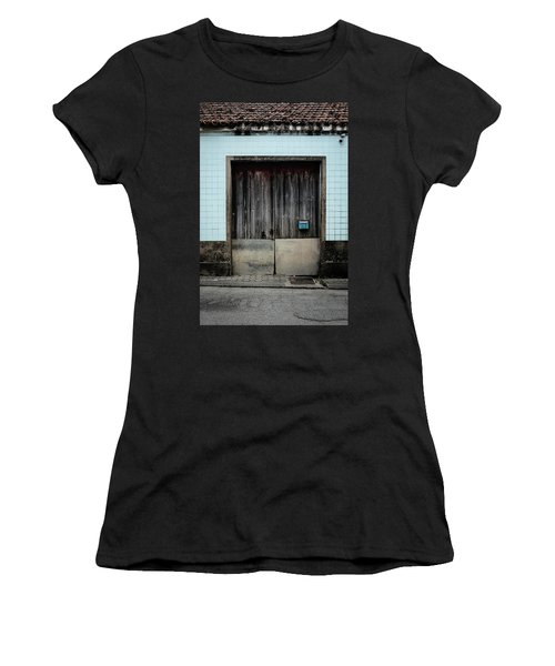 Women's T-Shirt (Junior Cut) featuring the photograph Blue Mailbox by Marco Oliveira