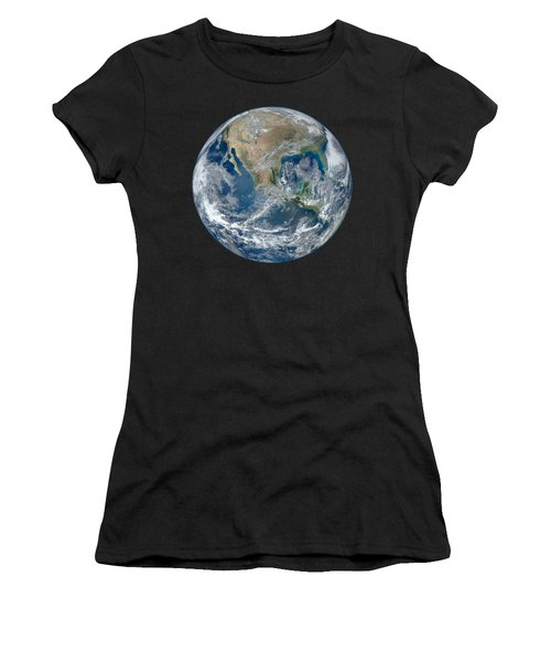 Blue Marble 2012 Planet Earth Women's T-Shirt (Junior Cut) by Nikki Marie Smith