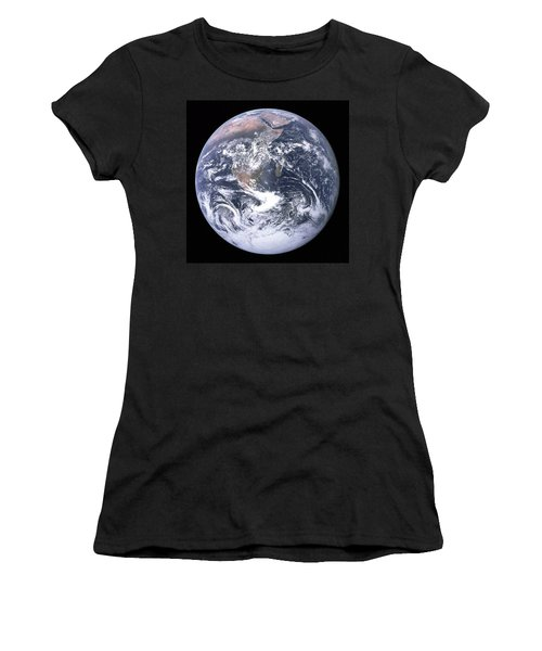 Blue Marble - Image Of The Earth From Apollo 17 Women's T-Shirt (Athletic Fit)