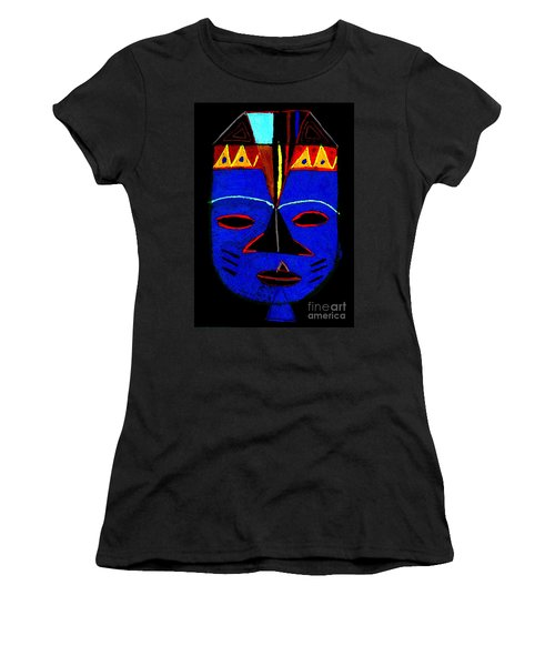 Blue Mask Women's T-Shirt (Athletic Fit)