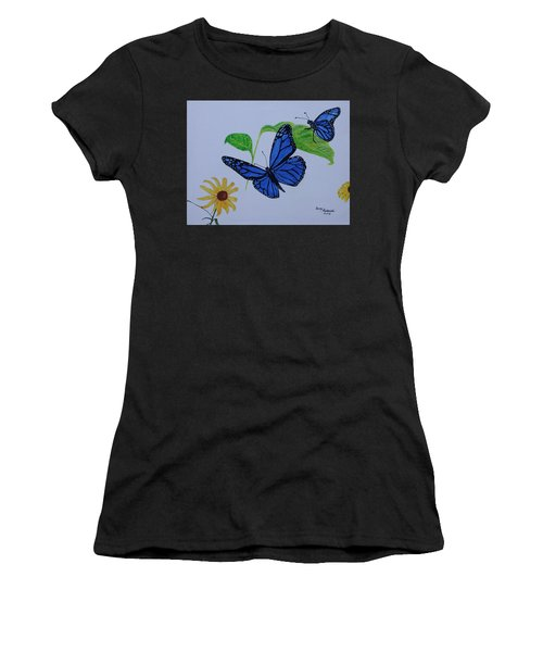 Blue Monarch Women's T-Shirt (Athletic Fit)
