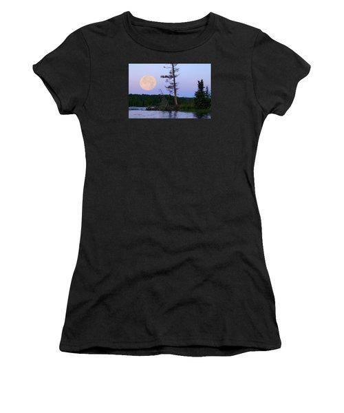 Blue Moon At Sunrise Women's T-Shirt (Junior Cut) by Steven Clipperton