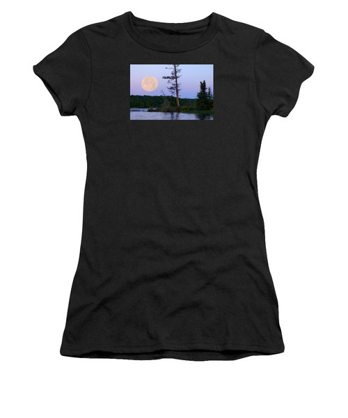 Blue Moon At Sunrise Women's T-Shirt (Athletic Fit)