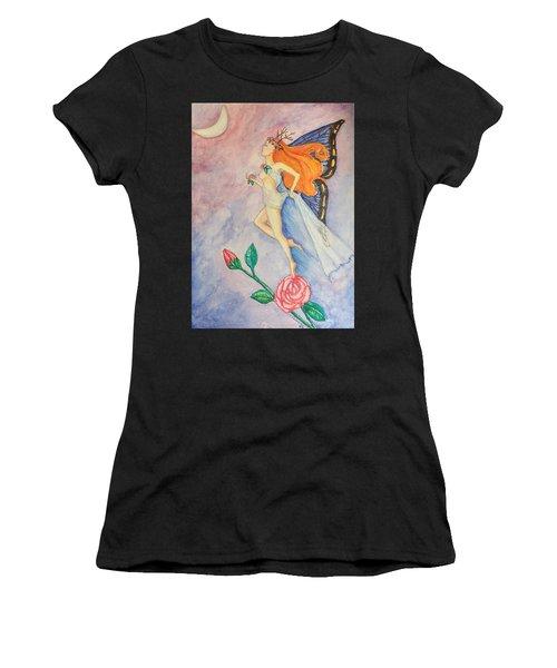 Blue Moon Dancer Women's T-Shirt (Athletic Fit)
