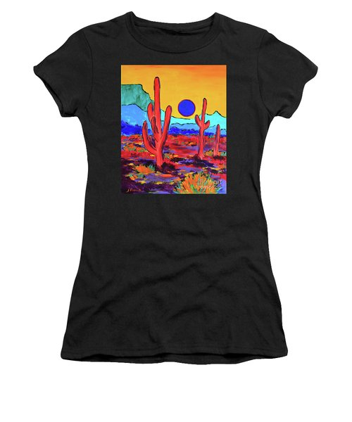 Blue Moon Women's T-Shirt (Junior Cut) by Jeanette French