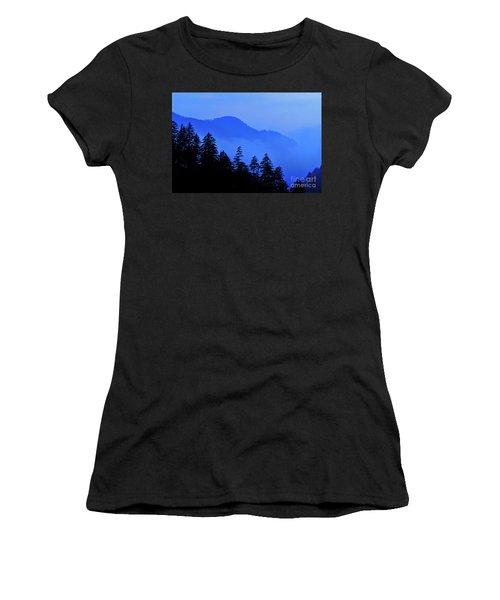 Women's T-Shirt (Junior Cut) featuring the photograph Blue Morning - Fs000064 by Daniel Dempster