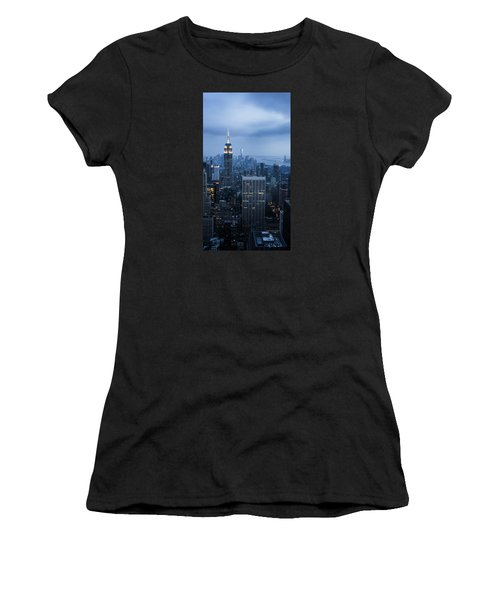 Blue New York Women's T-Shirt (Athletic Fit)