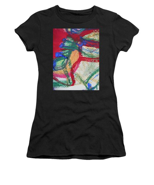 Blue On Red Women's T-Shirt