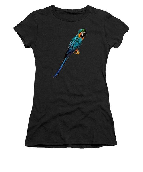Blue Parrot Art Women's T-Shirt