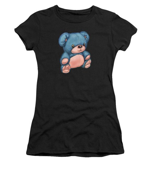 Blue Pink Bear Women's T-Shirt (Athletic Fit)