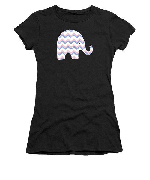 Blue Pink Chevron Pattern Women's T-Shirt