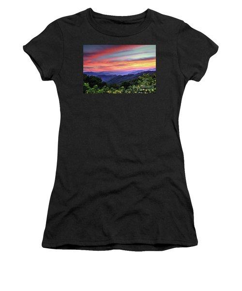 Blue Ridge Mountain Color Women's T-Shirt