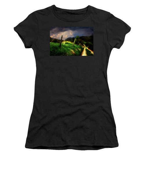 Blue Ridge Mountain Country Road Women's T-Shirt (Junior Cut) by Gray  Artus