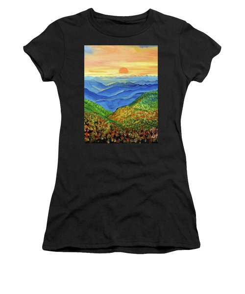 Blue Ridge Mountain Morn Women's T-Shirt (Athletic Fit)