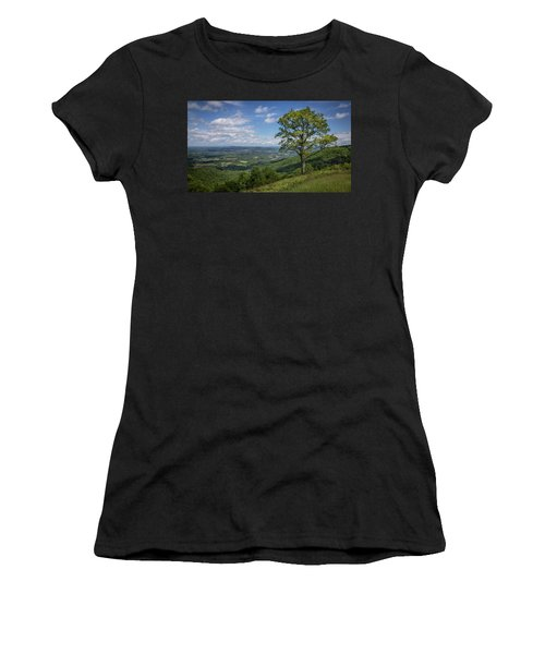 Women's T-Shirt featuring the photograph Blue Ridge Parkway Scenic View by James Woody