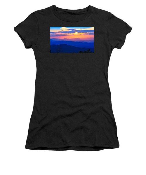 Blue Ridge Parkway Sunset, Va Women's T-Shirt (Athletic Fit)