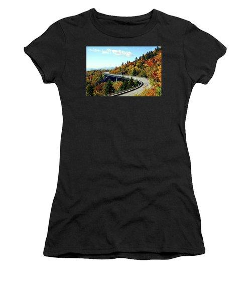 Women's T-Shirt (Junior Cut) featuring the photograph Blue Ridge Parkway Viaduct by Meta Gatschenberger