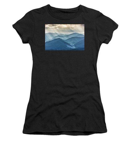 Blue Ridge Sunset Rays Women's T-Shirt