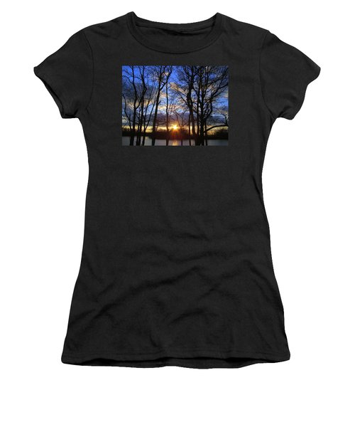Women's T-Shirt (Junior Cut) featuring the photograph Blue Skies And Golden Sun by J R Seymour