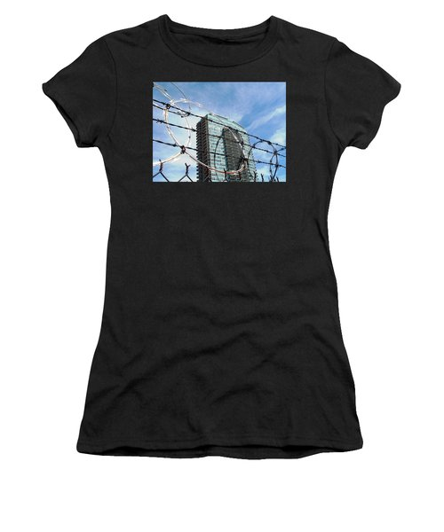 Blue Sky And Barbed Wire Women's T-Shirt