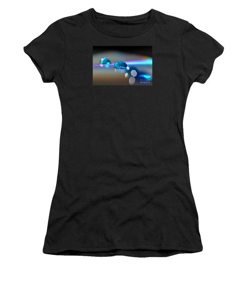 Women's T-Shirt (Junior Cut) featuring the photograph Blue Sparks by Sylvie Leandre