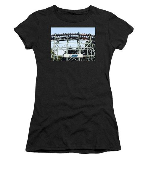 Blue Streak Women's T-Shirt (Athletic Fit)