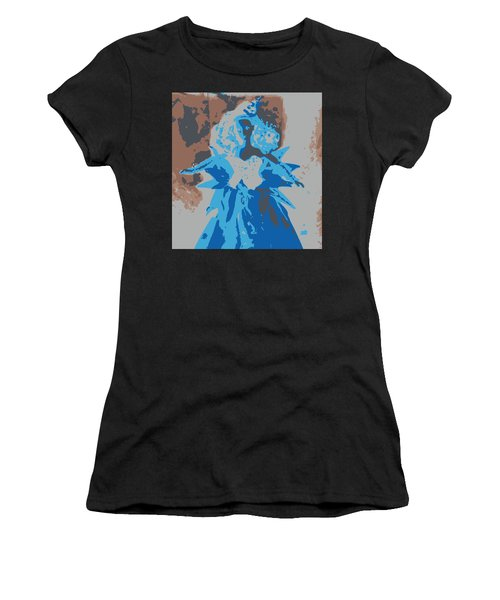 Blue Sunflower Barbie Women's T-Shirt