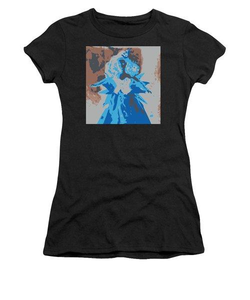 Blue Sunflower Barbie Women's T-Shirt (Athletic Fit)