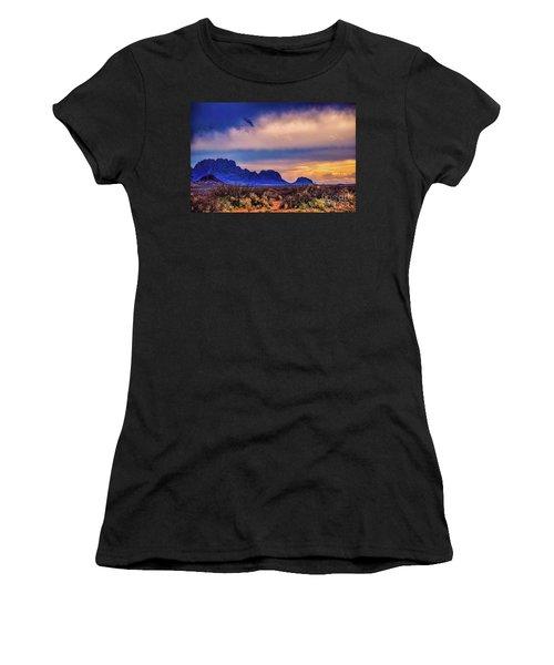 Blue Sunset Nm-az Women's T-Shirt (Athletic Fit)