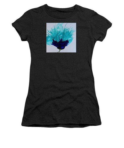 Blue Thistle Women's T-Shirt (Athletic Fit)