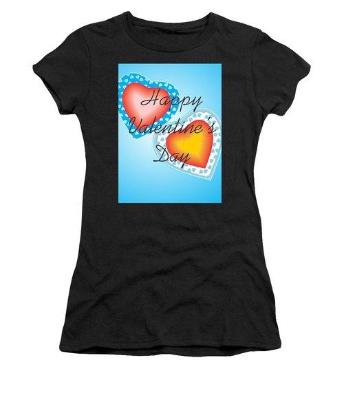 Blue Valentine Lace  Women's T-Shirt (Athletic Fit)